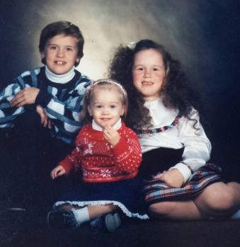 My brother, sister and I during the good ole days! Happy Thanksgiving!