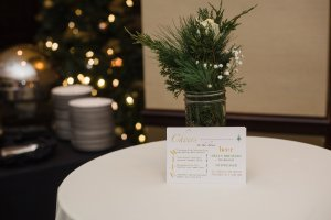 Customized beverage menus and appetizers to keep the party going.