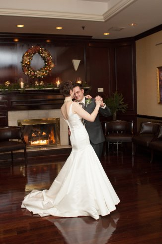 The dancing portion of the reception was held in the Tasting Room, and having our first dance in front of the fireplace was perfect.